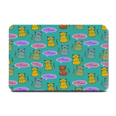 Meow Cat Pattern Small Doormat