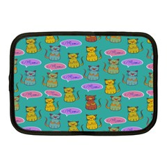 Meow Cat Pattern Netbook Case (medium)