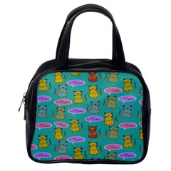 Meow Cat Pattern Classic Handbags (one Side)