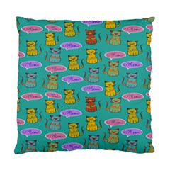 Meow Cat Pattern Standard Cushion Case (one Side)