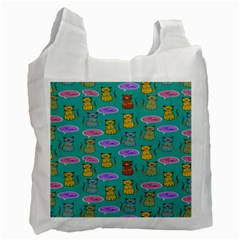 Meow Cat Pattern Recycle Bag (Two Side)