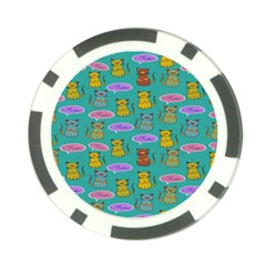 Meow Cat Pattern Poker Chip Card Guard (10 Pack)