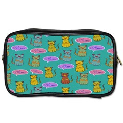 Meow Cat Pattern Toiletries Bags 2 Side