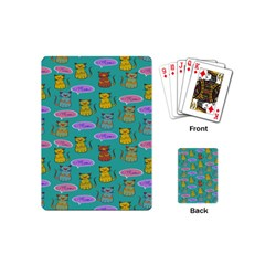Meow Cat Pattern Playing Cards (mini)