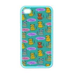 Meow Cat Pattern Apple Iphone 4 Case (color)