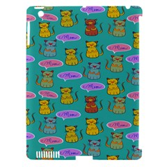 Meow Cat Pattern Apple Ipad 3/4 Hardshell Case (compatible With Smart Cover)