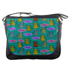 Meow Cat Pattern Messenger Bags