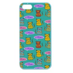 Meow Cat Pattern Apple Seamless Iphone 5 Case (color)