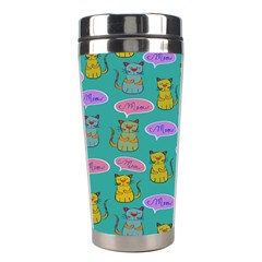 Meow Cat Pattern Stainless Steel Travel Tumblers