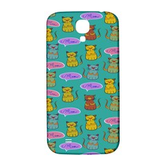 Meow Cat Pattern Samsung Galaxy S4 I9500/i9505  Hardshell Back Case