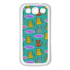 Meow Cat Pattern Samsung Galaxy S3 Back Case (white)