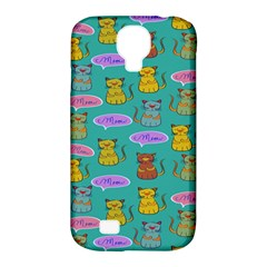 Meow Cat Pattern Samsung Galaxy S4 Classic Hardshell Case (pc+silicone)