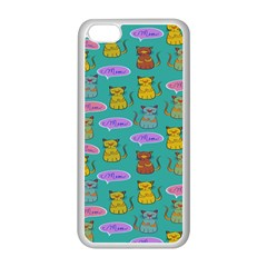 Meow Cat Pattern Apple Iphone 5c Seamless Case (white)