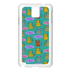 Meow Cat Pattern Samsung Galaxy Note 3 N9005 Case (white)