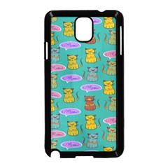 Meow Cat Pattern Samsung Galaxy Note 3 Neo Hardshell Case (black)