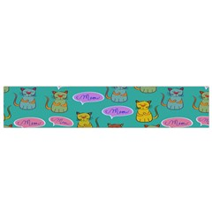 Meow Cat Pattern Flano Scarf (small)