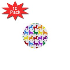Colorful Horse Background Wallpaper 1  Mini Buttons (10 pack)
