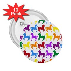 Colorful Horse Background Wallpaper 2 25  Buttons (10 Pack)