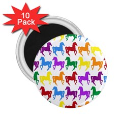 Colorful Horse Background Wallpaper 2 25  Magnets (10 Pack)