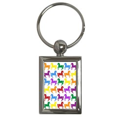 Colorful Horse Background Wallpaper Key Chains (rectangle)