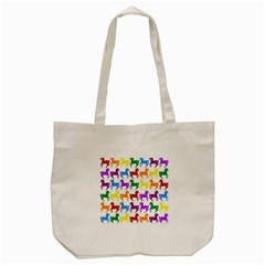 Colorful Horse Background Wallpaper Tote Bag (cream)