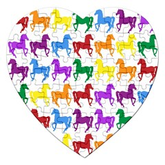 Colorful Horse Background Wallpaper Jigsaw Puzzle (heart)