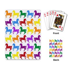 Colorful Horse Background Wallpaper Playing Card