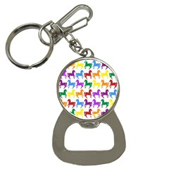 Colorful Horse Background Wallpaper Button Necklaces