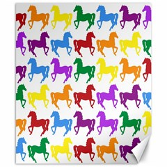 Colorful Horse Background Wallpaper Canvas 8  x 10