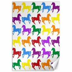 Colorful Horse Background Wallpaper Canvas 12  X 18