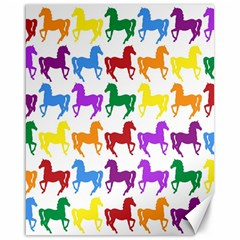 Colorful Horse Background Wallpaper Canvas 16  X 20