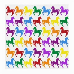 Colorful Horse Background Wallpaper Medium Glasses Cloth (2 Side)