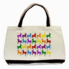 Colorful Horse Background Wallpaper Basic Tote Bag (two Sides)