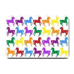 Colorful Horse Background Wallpaper Small Doormat
