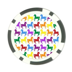 Colorful Horse Background Wallpaper Poker Chip Card Guard