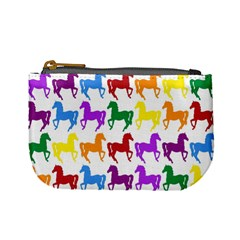 Colorful Horse Background Wallpaper Mini Coin Purses