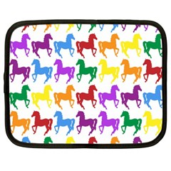 Colorful Horse Background Wallpaper Netbook Case (XXL)