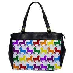 Colorful Horse Background Wallpaper Office Handbags