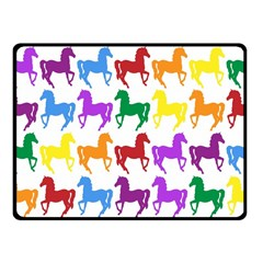Colorful Horse Background Wallpaper Fleece Blanket (small)