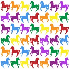 Colorful Horse Background Wallpaper Magic Photo Cubes