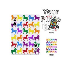 Colorful Horse Background Wallpaper Playing Cards 54 (mini)