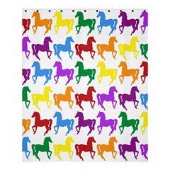 Colorful Horse Background Wallpaper Shower Curtain 60  x 72  (Medium)