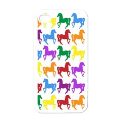 Colorful Horse Background Wallpaper Apple Iphone 4 Case (white)