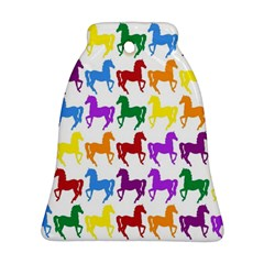Colorful Horse Background Wallpaper Ornament (Bell)