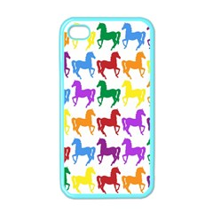 Colorful Horse Background Wallpaper Apple Iphone 4 Case (color)