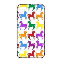 Colorful Horse Background Wallpaper Apple Iphone 4/4s Seamless Case (black)