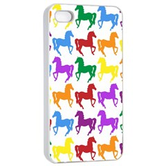 Colorful Horse Background Wallpaper Apple Iphone 4/4s Seamless Case (white)