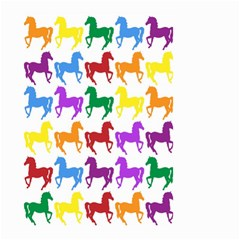 Colorful Horse Background Wallpaper Small Garden Flag (Two Sides)