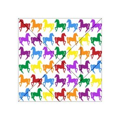 Colorful Horse Background Wallpaper Acrylic Tangram Puzzle (4  X 4 )