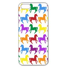 Colorful Horse Background Wallpaper Apple Seamless Iphone 5 Case (clear)